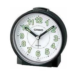 Casio #TQ228-1DF Round Travel Table Top Alarm Clock