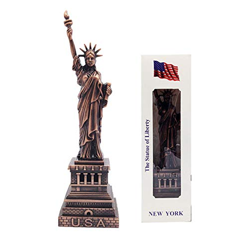 Jproducts Cold Cast Bronze Copper NY Statue of Liberty Collectible Metal Figure (Bronze, 6 1/4