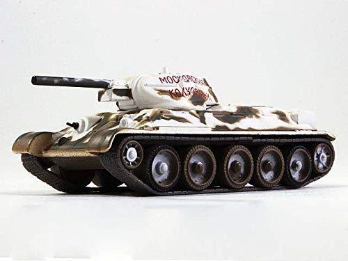Russian Tanks T-34-42 Soviet Medium Tank Winter 1941 Year WWII 1/72 Scale Diecast Model