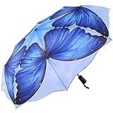 Galleria Blue Morpho Folding Umbrella (Blue Morpho)