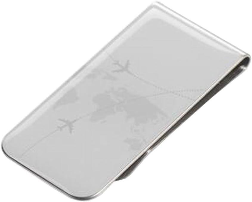 2 PC Silver Stainless Steel Slim Money Clip Cash Credit Card Metal Pocket Holder