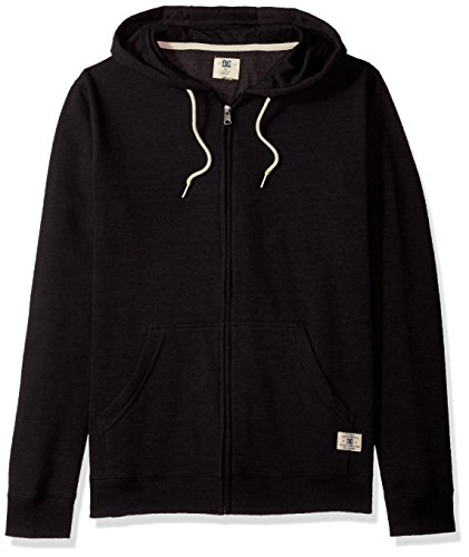 DC Men's Rebel Zip-up Hoodie Sweatshirt, Black, XL
