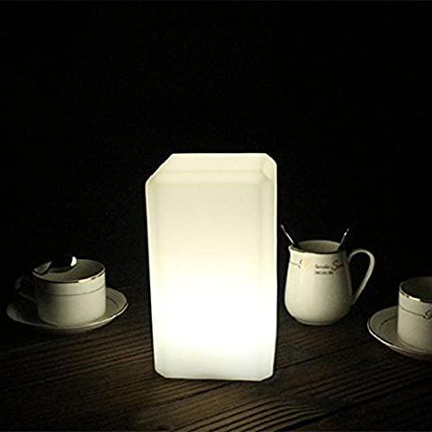 hot sale IVER led Decorative Night PE Plastic Chargeable / Wireless / Waterproof and Support Remote Control (Square (Remote Cylinder)