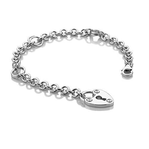 Hot Diamonds femme  Argent 925/1000  Argent #Silver Rond   Blanc Diamant FINENECKLACEBRACELETANKLET