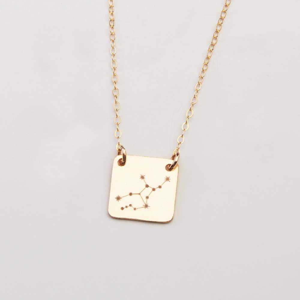 Leo 14kt Gold Dipped 1 Zodiac Constellation Locket
