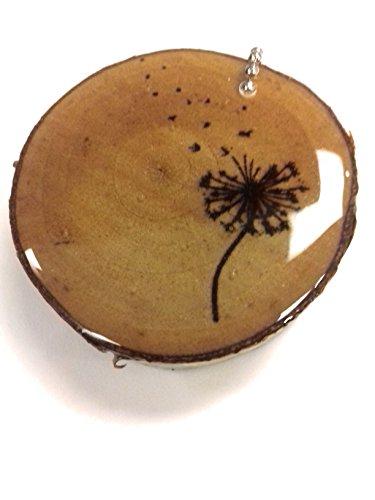 Make A Wish Dandelion Luggage Tag Wood Burned Keychain