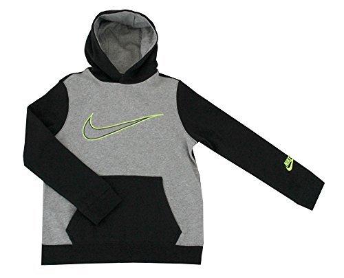 ce Hoodie Athletic Shirt Sweatshirt Pullover (Grey/Black, L 14/16) ()