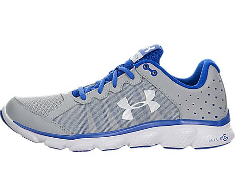 Under Armour Micro G Assert 6 Running Shoes UK 9 Amalgam Grey Ultra - Uk D G And