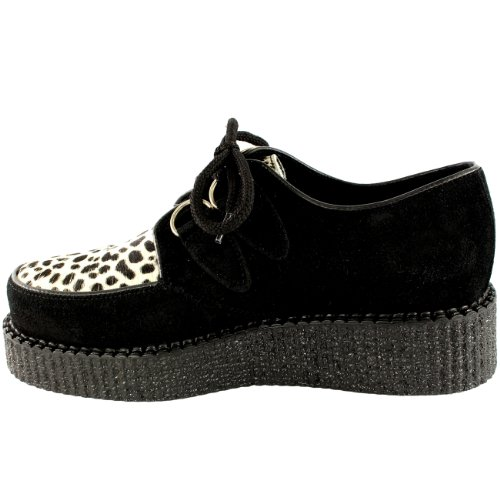 Shoes Creepers Wulfrun Leopard Leather Punk Goth Womens Chunky Underground Retro UTBqCnRw