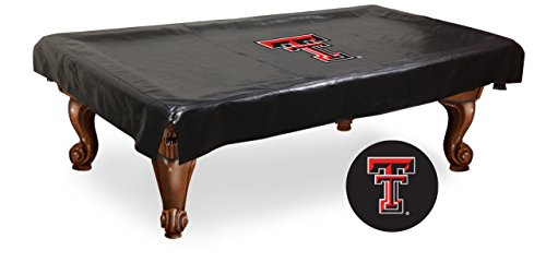 Texas Tech Red Raiders HBS Black Vinyl Billiard Pool Table Cover (98