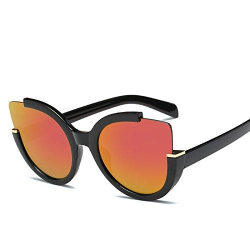 De Sol Sol De Viaje Sol De A Gato Sol Ojo Coloridas JUNHONGZHANG Gafas De Decorativas UN De Gafas De Gafas De De Mujer Gafas Gafas Metal OqaYE
