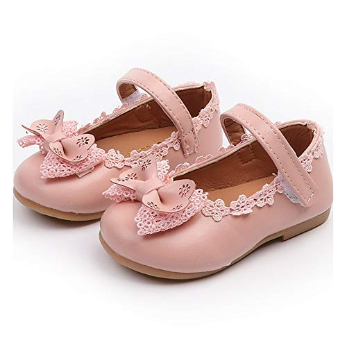 Toddler Little Girls Dress Shoes Ballet Sparkle Wedding Party Mary Jane Princess Flats Shoes | 8 M US Toddler, A-Pink Toddler Girl Shoes]()