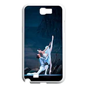 Unique Phone Case Pattern 2Swan-ballet dancer- For Samsung Galaxy Note 2 Case