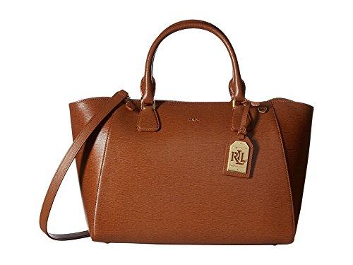 LAUREN Ralph Lauren Women's Newbury Stefanie Satchel Lauren Tan Handbag