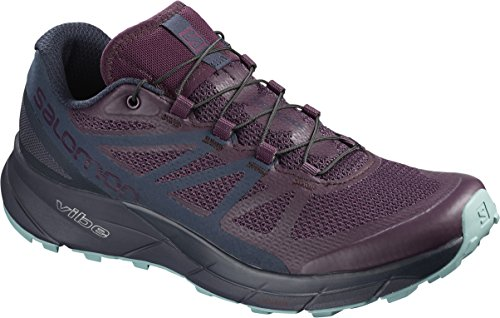 Salomon Women's Sense Ride Running Trail Shoes Potent Purple/Graphite/Navy Blazer 9.5 (Road Off Trainers)
