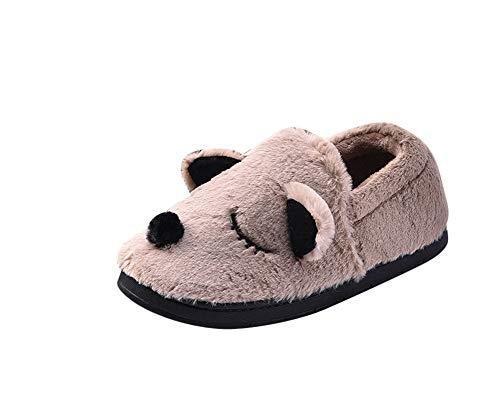 Chaud Garçon Chaussures Antidérapant Peluche Maison Hiver Kaki ZiXing Chaussures Femme Chausson Fille Enfant Bébé Homme Pantoufles Tq0wvxY1