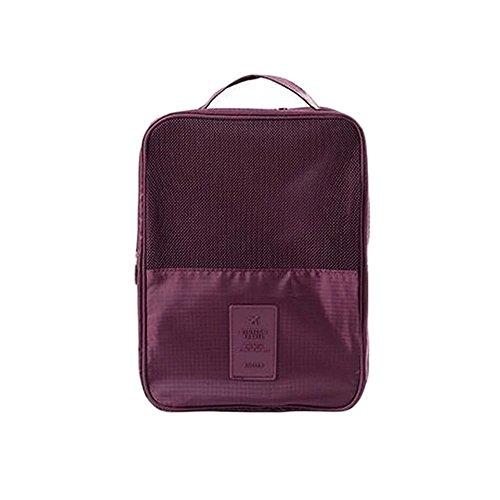 Multicolor Shoe Storage Travel Bag Waterproof Organizer Bag With Zipper by EVERDESIGN