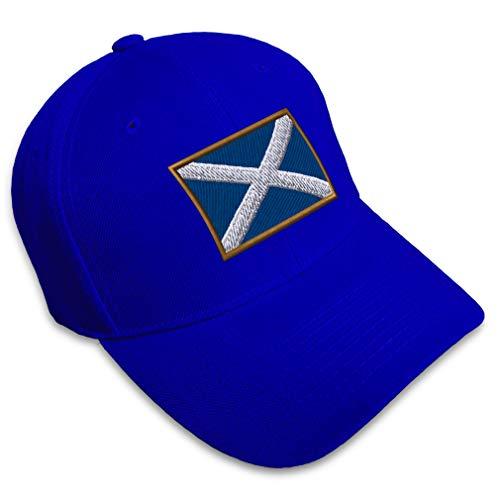 Speedy Pros Baseball Cap Scotland Embroidery Acrylic Dad Hats for Men & Women Strap Closure Royal Blue Design Only