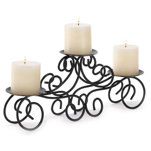 Gifts & Decor Tuscan Candle Holder Wrought Iron Wedding Centerpiece by Gifts & Decor
