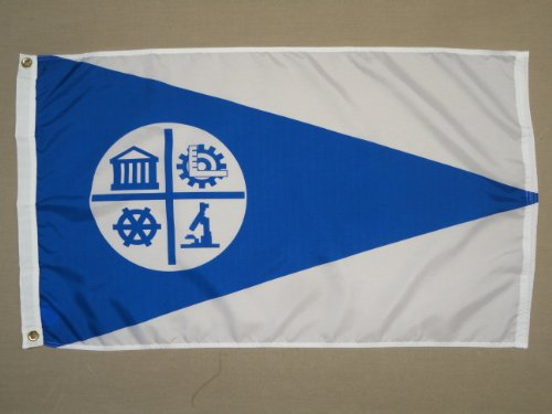 City of Minneapolis MN Indoor Outdoor Dyed Nylon Flag Grommets 3' X ()