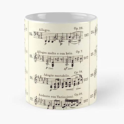Sheet Music Notation Teach - Morning Coffee Mug Ceramic Novelty Holiday