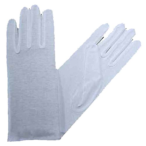 Womens White Stretchy Cotton Gloves (White Stretchy Cotton Gloves)