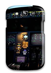 Excellent Galaxy S3 Case Tpu Cover Back Skin Protector A330 Dash Screens Buttons Man Made Aircraft