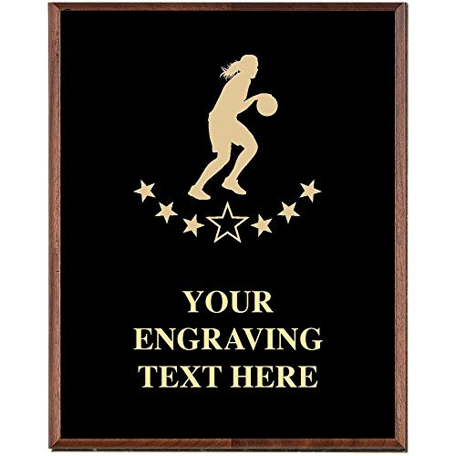 Crown Awards Basketball Plaques, Custom Engraved Girls Basketball Trophy Plaque Award, Great Customizable Basketball Team Gift ()
