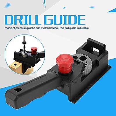 taladro de madera Gu/ía de taladro de orificio recto Herramienta para ubicar posicionador de carpinter/ía para carpinter/ía Gu/ía de taladro Zerone