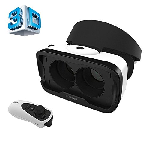 Baofeng Mojing IV Universal Virtual Reality 3D Video Glasses with Bluetooth Remote Controller for 4.7 to 5.5 inch iOS Smartphones (iOS version)