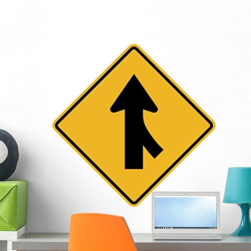 Wallmonkeys WM330820 Merging Traffic from The Right Sign Peel and Stick Wall Decals W x 24 in H, 24