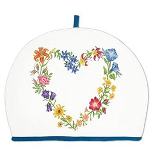 Alice's Cottage Floral Heart Wreath Cotton Tea Cozy Cosy