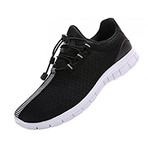 JUAN Men's Running Shoes Fashion Breathable Sneakers Mesh Soft Sole Casual Athletic Lightweight (11US/45EU,Men, Black)