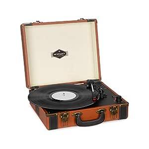 auna Jerry Lee BT Tocadiscos - Discos de Vinilo , Tracción por Correa , Altavoces estéreo , Bluetooth , Grabación y reproducción , USB , AUX , ...