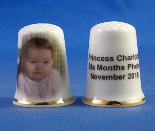 Porcelain China Collectable Thimble - Princess Charlotte at 6 Months - Free Gift Box Birchcroft China