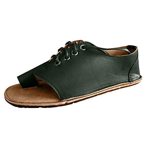 Peigen Womens Sandals for Women Retro Womens Flats Peep Toe Fish Mouth Shoes Ankle Ladies Sandals Boots