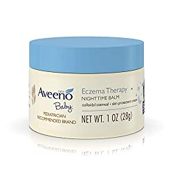 Aveeno Baby Eczema Therapy Nighttime Balm helps soothe your little one's dry, itchy skin for effective baby eczema relief. Gentle enough for everyday use on babies' sensitive skin, this baby eczema balm combines natural colloidal oatmeal and dimethic...