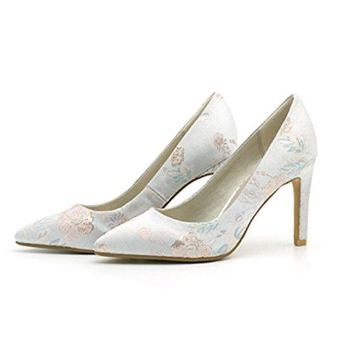 ec663777 En venta YR-R Bombas De Bordado Zapatos De Tacón Alto Zapatos De Dama De