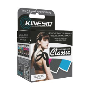 Fabrication Enterprises Kinesio Tape, Tex Classic, 2'' x 4.4 yds, Black, 6 Rolls