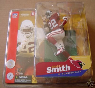 McFarlane Toys NFL Sports Picks Series 6 Action Figure Emmitt Smith (Arizona Cardinals) Red Jersey Red / White Gloves Variant