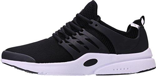 Homme Noir 40 PORTANT 45 Running Baskets Chaussures de Sport EU q7wSHtf