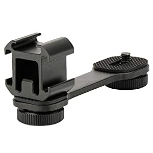 """1 Doppio Supporto per Piastra Forata Con Vite Da 2 1/4"""", 1 Pezzi Hot Shoe Mount/Adattatore Flash a Slitta per Luci Flash, per Canon/Nikon/Sony SLR DSLR fotocamera videocamera 2 spesavip"""