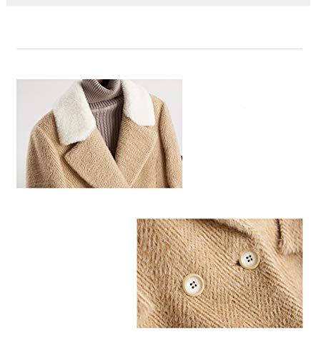 Da Cappotto l Fleece Lunghezza Di Donna Abbigliamento In Femminile Top Femminile Cappotto Azw cammello Giacca Media Lana Visone 5qxTvv