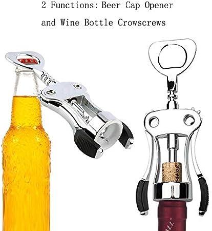 JIA Sacacorchos del Vino, Todo-en-uno Vino de la Botella de Cerveza abridor sacacorchos abrelatas del Vino con tapón de Cocina del Restaurante y Bares