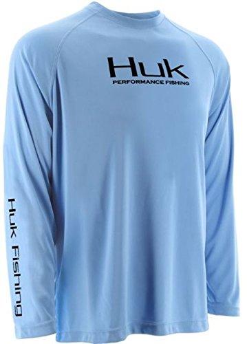 Sleeve Performance Fishing Shirt (Huk Performance Raglan Long Sleeve, Carolina Blue, Small)