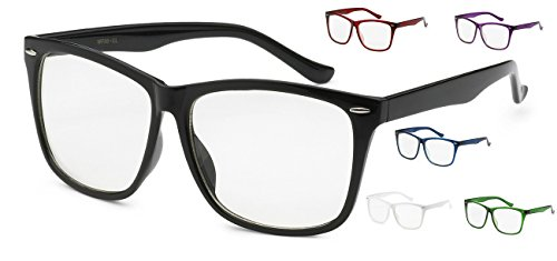5zero1 Fake Glasses Big Frame Nerd Party Men Women Fashion Classic Retro Eyeglasses