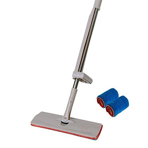 Best Microfiber Multi-functional Wet or Dry Dust Floor Mop For Hardwood, Tile, Linoleum, Laminate, & Stone Flooring + 2 FREE Premium Reusable Microfiber Cloth Pads - LB Goods