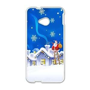 HTC One M7 Cell Phone Case White Santa 2 O1O5DJ