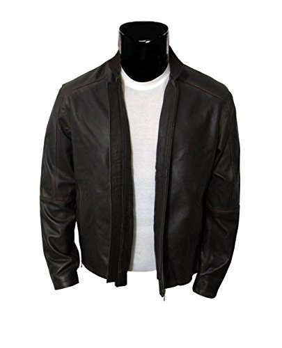 Vintage Leather Jacket Brown Motorcycle product image