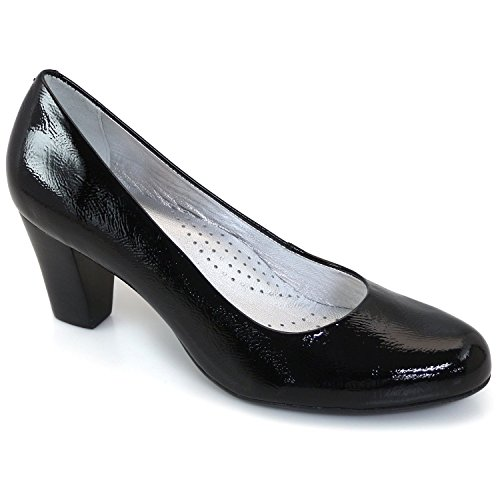 Marc Joseph New York Womens Midtown Pump Leather Closed Toe Classic Pumps Black Patent bakmcSO